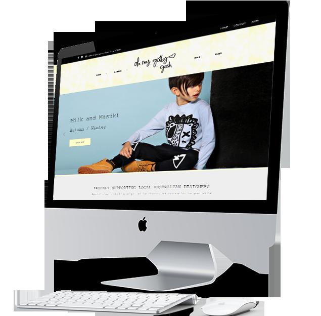 confetti design small business web design portfolio oh my golly gosh