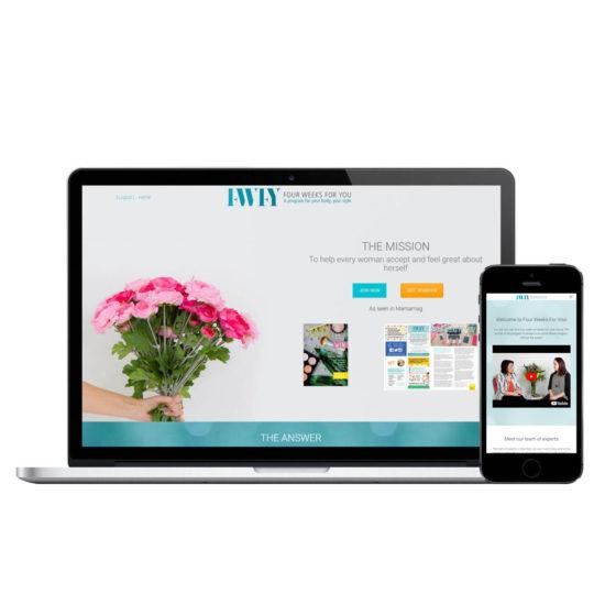 Four-Weeks-For-You-Confetti-Design-Melbourne-Website-Design
