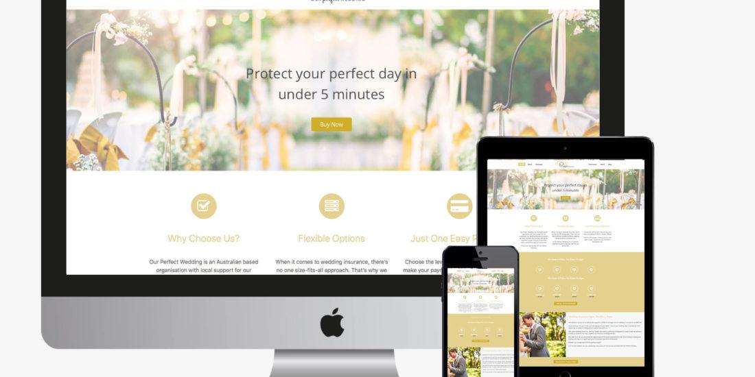 confetti design small business web design portfolio our perfect wedding