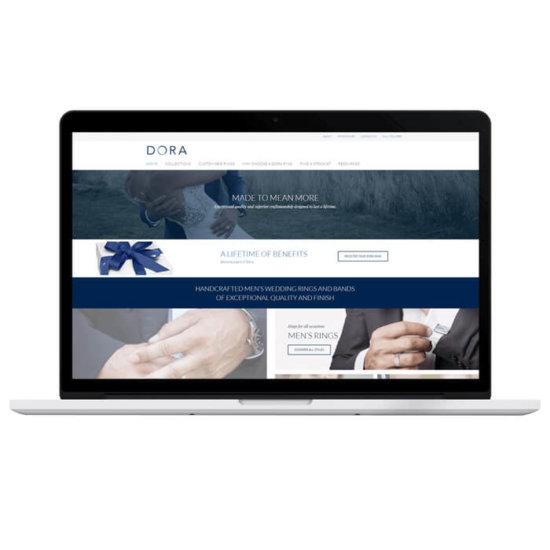 confetti design small business web design portfolio dora