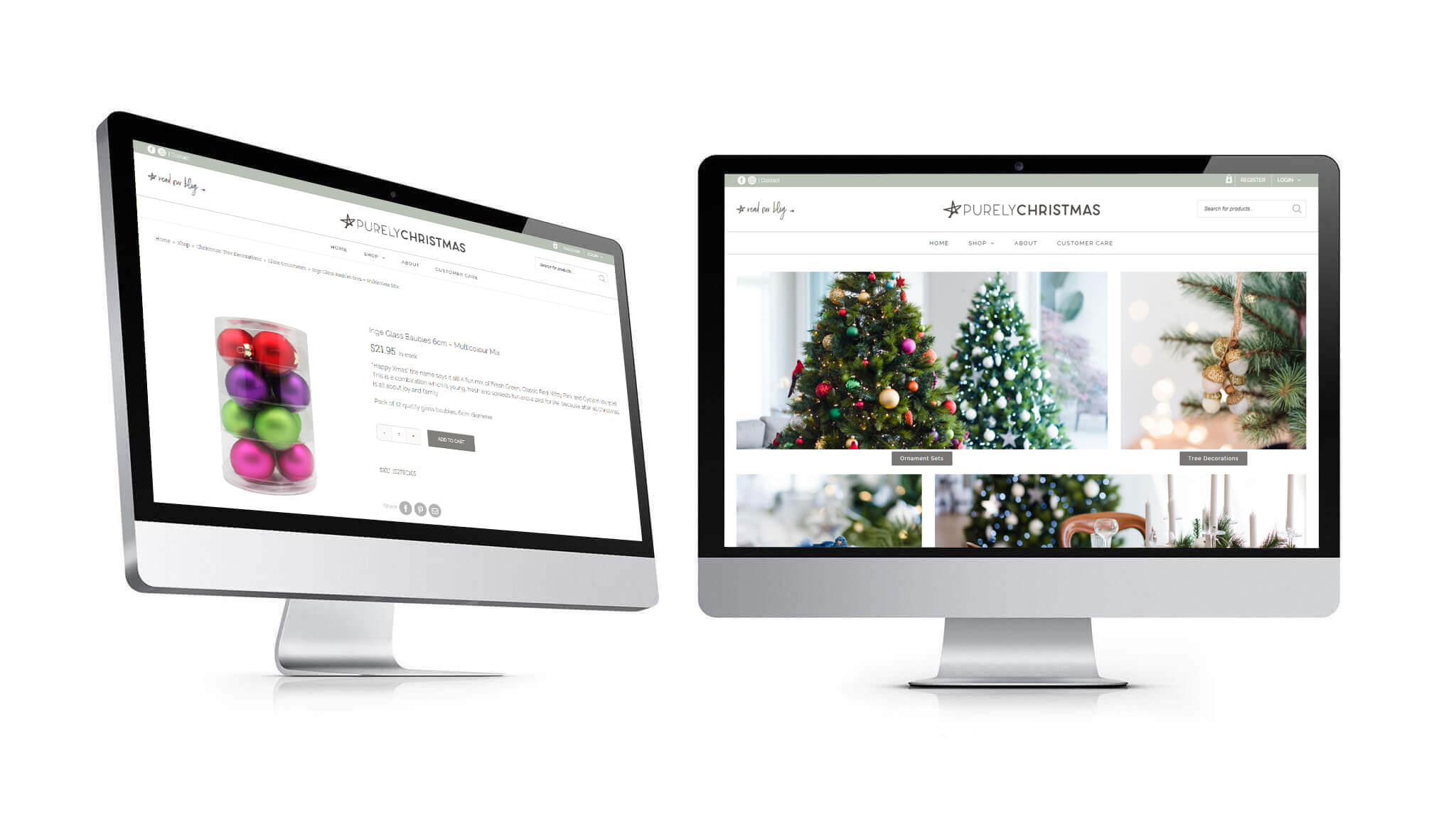 confetti design ecommerce online store purely christmas